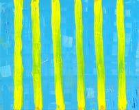 Färben Sie Streifen gelb Stockfotografie