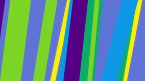 Färben Sie Streifen 1 //1080p, das Videohintergrundschleife der bunten Stangen bewegt vektor abbildung