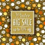 Färben Sie Weihnachtshintergrund und -aufkleber mit Verkaufsangebot, Vektor Stockfotografie