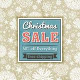 Färben Sie Weihnachtshintergrund und beschriften Sie mit Verkaufsangebot Lizenzfreies Stockfoto
