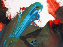 Färben Sie Wellenmalerei auf Papierhintergrundzusammenfassungs-Beschaffenheitskünsten Lizenzfreies Stockbild