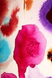Färben Sie Wolken-handgemalte abstrakte Gouachen Lizenzfreie Stockfotos
