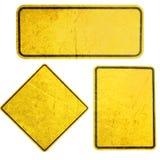 Färben Sie Zeichen gelb Stockfoto