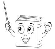 Färbender netter Buch-Charakter mit Zeiger Lizenzfreie Stockfotos
