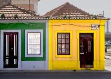 Färbt Fassaden Aveiro Portugal lizenzfreie stockfotos