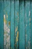 Färbten alte Weinlese getragene Bretter mehrmals mit blauer Farbe Stockfotografie
