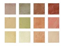 Färbung die Farbe und den Ton der dekorativen Beschichtung - Sand Stockfotografie