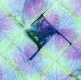 Färbungsbatikgewebe für Hintergrund und Beschaffenheit Lizenzfreie Stockbilder
