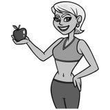 Färdig dam med den Apple illustrationen