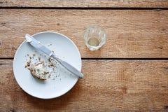 Färdig frukostplats Fotografering för Bildbyråer