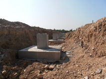 Färdiggjuten betonggrund i Thailand Fotografering för Bildbyråer
