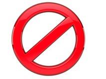 färdigt förbjudit half tecken Arkivfoto