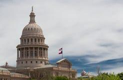 Färdigt i 1888 står Texas State Capitol högväxt Arkivbild