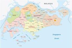 Färdplan av Singapore vektor illustrationer