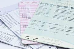 Färg av bankböcker eller bankböcker Royaltyfria Foton