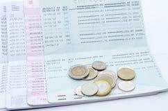 Färg av bankböcker eller passerandeböcker Arkivfoton