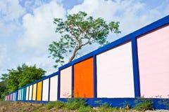 Färg av staketet Arkivbild