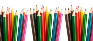 färg crayons blyertspennor Arkivfoton