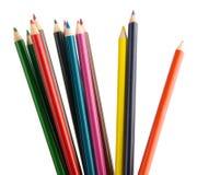 färg crayons blyertspennor Royaltyfri Fotografi