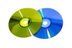 Färg DVD Royaltyfria Foton