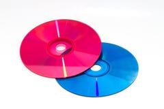 Färg DVD och CD Arkivfoton