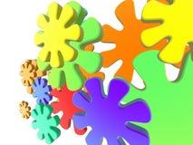 färg för 2 attack Arkivbild