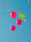 färg för 2 baloons Arkivfoton
