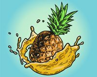 Färg för ananasfruktsaft Royaltyfria Bilder
