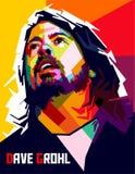 Färg för DAVE GROHL popkonst stock illustrationer