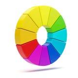 färg för diagram 3d Arkivfoton