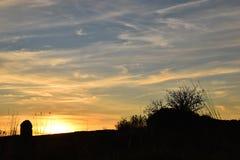 Färg för himmel för solnedgångmonument roman Arkivbild