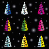 Färg för Holyday trädmodell Arkivbild