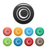 Färg för ljusbruna symboler för Choco stjärna fastställd stock illustrationer