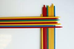 Färg för lycka för Micado Mikado leklek färgrik slumpmässig Arkivfoton