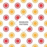 Färg för sömlöst kugghjul för modell för vektorillustration röd och orange royaltyfri illustrationer