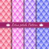 Färg för signal för bakgrund 4 för modell för Lotus kronbladabstrakt begrepp royaltyfri illustrationer