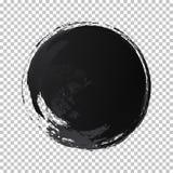 Färg för svart för cirkel för vektor för handattraktionvattenfärg stock illustrationer