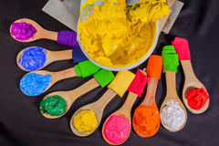 Färg för tryck på utslagsplatsskjortor Fotografering för Bildbyråer
