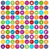 färg för uppsättning för 100 auto symboler för tjänste- mitt stock illustrationer
