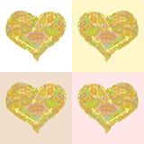 Färg för valentinpilriktning wave1 Royaltyfri Bild