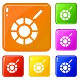 Färg för vektor för färgplockaresymboler fastställd vektor illustrationer