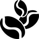 Färg för vektor för illustration för symbol för lägenhet för kaffeböna fast Vektor Illustrationer