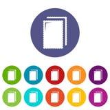 Färg för vektor för ljusbruna glasssymboler fastställd stock illustrationer
