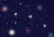 färg fyllde stjärnauniversum Arkivfoton