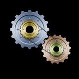 färg gears version vektor illustrationer