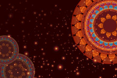 Färg Henna Mandala Background Royaltyfri Fotografi