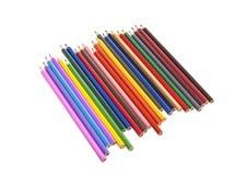 färg isolerad blyertspenna royaltyfria foton