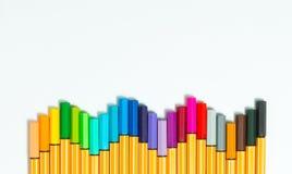 färg isolerade pennor Arkivbild