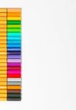 färg isolerade pennor Royaltyfri Fotografi