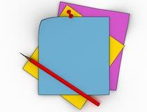 färg isolerat broschyrpapper Arkivfoto